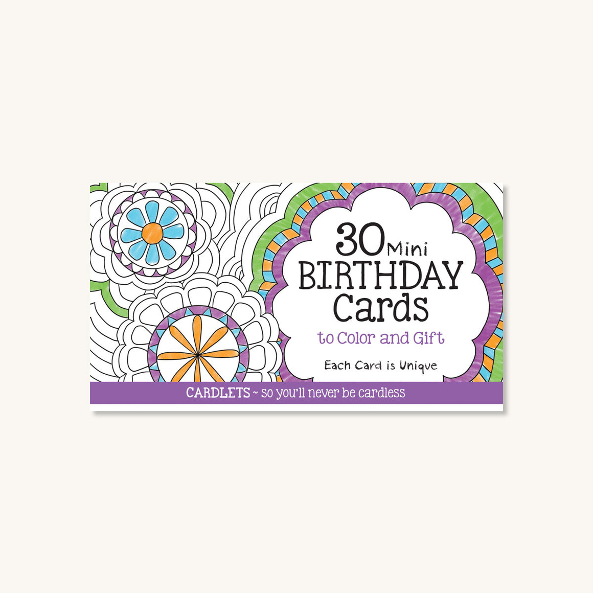 Cardlets: 30 Mini Birthday Cards