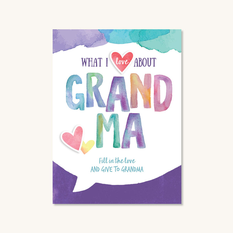 What I Love About Grandma Journal