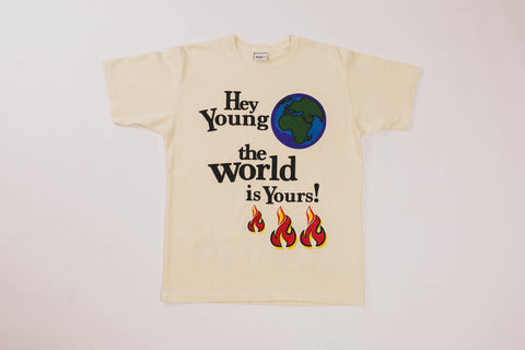 BRNS YOUNG WORLD CREAM SHORT SLEEVE TEE