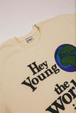 BRNS YOUNG WORLD CREAM CREW NECK SWEATSHIRT