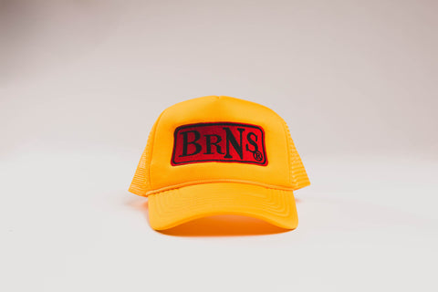 BRNS YOUNG WORLD YELLOW TRUCKER HAT
