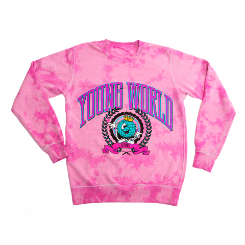 BRNS YOUNG WORLD TIE DYE SWEATSHIRT