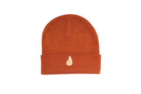 BRNS COPPER ORANGE BEANIE HAT