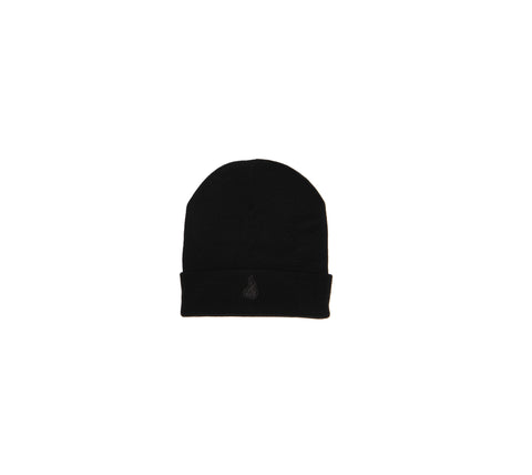 BRNS BLACK ON BLACK BEANIE HAT