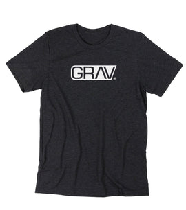 GRAV® Heather Black Logo T-Shirt