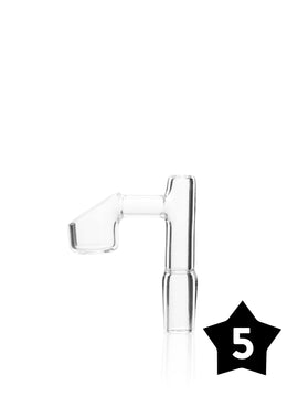 14mm GRAV® Male Banger - 90° Angle - Clear - Pack of 5