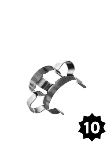 19mm Steel Clamp - Silver - Pack of 10