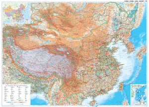 Geographical China map