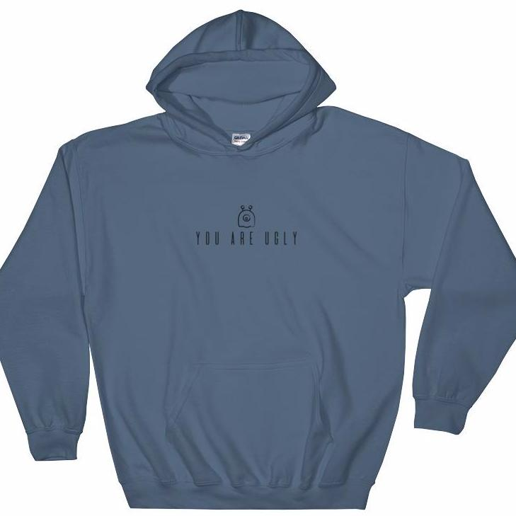 You Are Ugly Hooded Sweatshirt