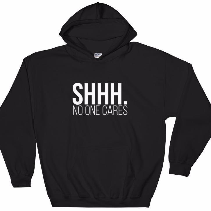 Shhh.  Hooded Sweatshirt