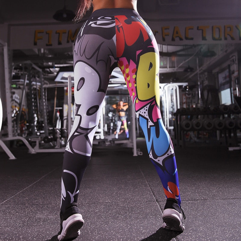 Comic Push Up Leggings