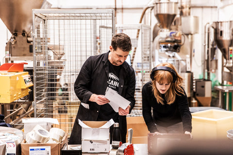 Volcano Coffee Works roastery in Brixton. Photo Charlie Mckay