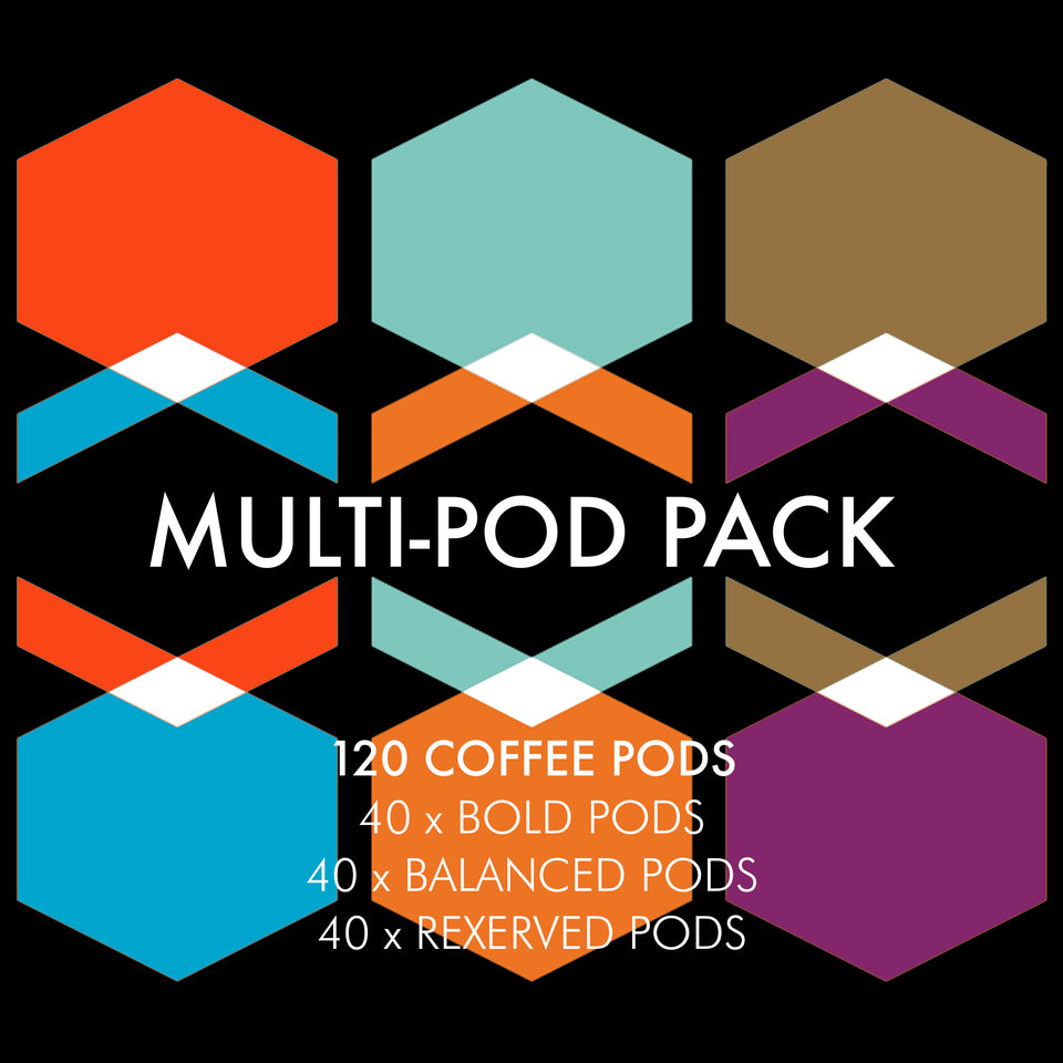 Multi Pod Pack - 120 x Nespresso Compatible Eco Coffee Pods