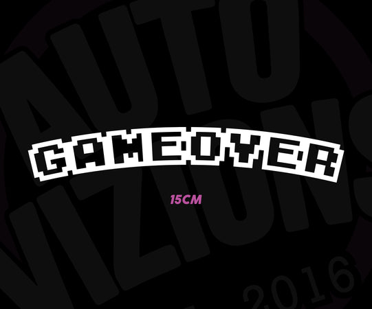 GameOver Decal - AutoVizions