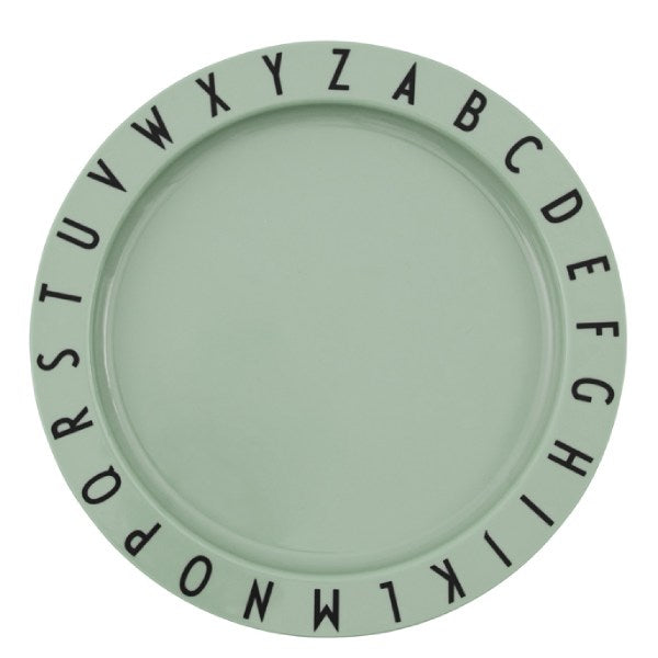 Design Letters Eat & Learn plate tritan - Green