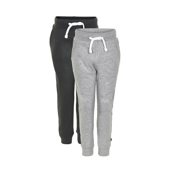 Image of Basic Sweatpants 2-pak (Sort/Grå)