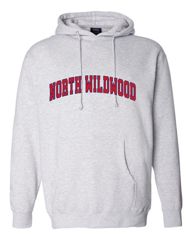 North Wildwood Arched Heavyweight Hooded Pullover - Grey