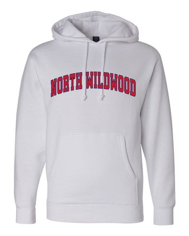 North Wildwood Arched Heavyweight Hooded Pullover - White