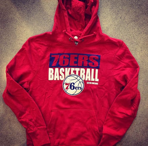 Men's Sixers Blockout Hooded Pullover