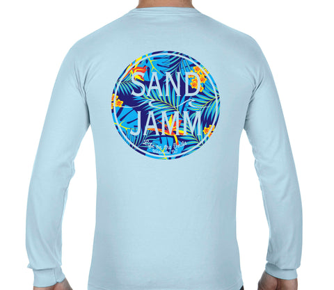 Blue Tropical Long Sleeves - Chambray