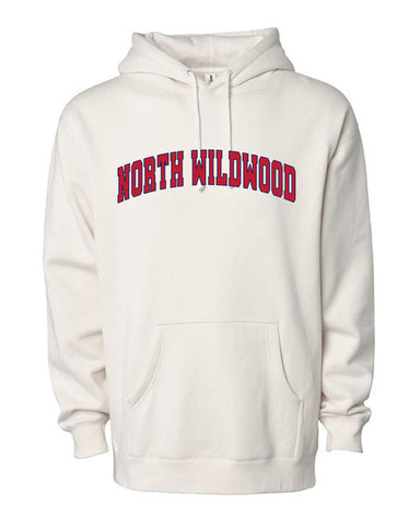 North Wildwood Arched Heavyweight Hooded Pullover - Bone