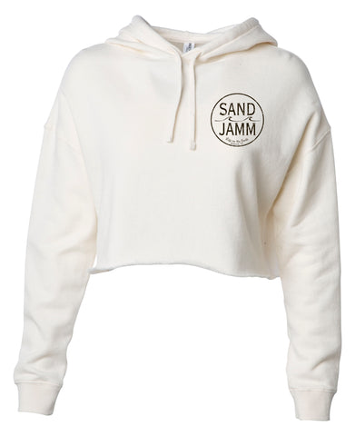 Women's SJ Classic Crop Hooded Pullover - Bone