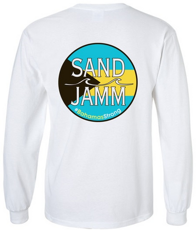 SJ #BahamasStrong Long Sleeve Shirt - White