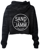 Women's SJ Classic Crop Hooded Pullover - Black Camo