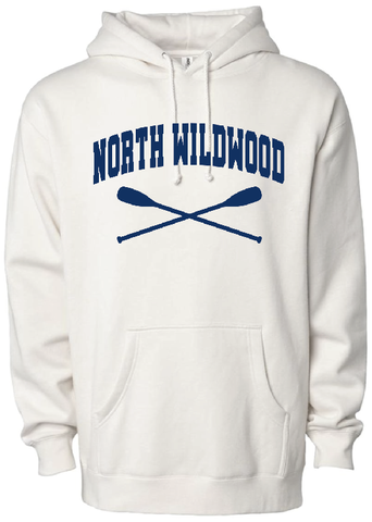 North Wildwood Oars Heavyweight Hooded Pullover - Bone