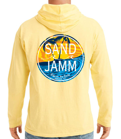 SJ Waves Long Sleeve Hooded Shirt - Yellow