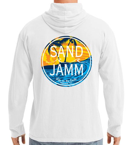 SJ Waves Long Sleeve Hooded Shirt - White