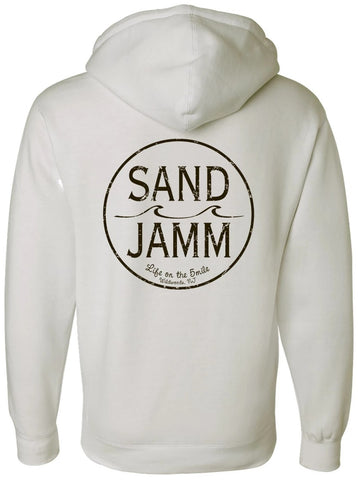 SJ Classic Heavyweight Hooded Pullover - Bone