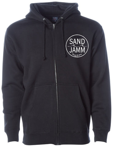 SJ Classic Heavyweight Hooded Zip - Black