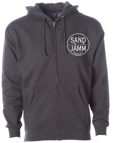 SJ Classic Heavyweight Hooded Zip - Charcoal