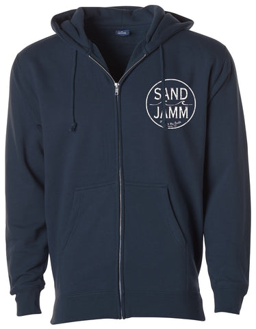 SJ Classic Heavyweight Hooded Zip - Navy Blue