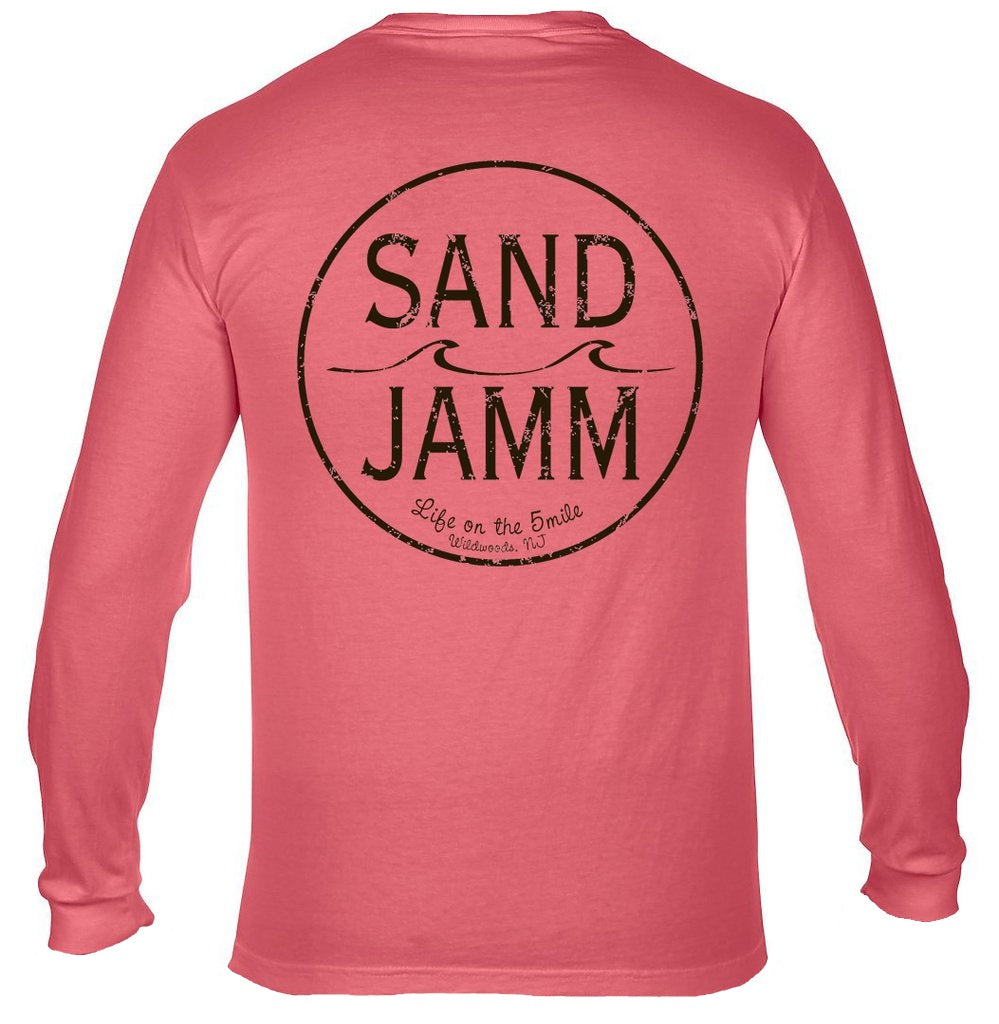 8b9085cfaf45 SJ Classic Long Sleeve Shirt - Watermelon – Sand Jamm