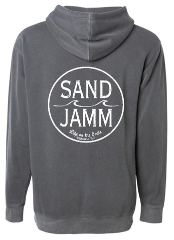 SJ Classic Pigment Dyed Hooded Pullover - Black
