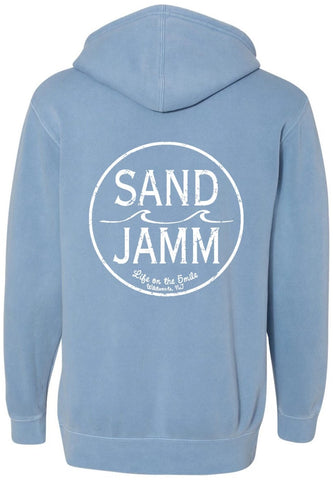 SJ Classic Pigment Dyed Hooded Pullover - Light Blue