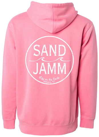 SJ Classic Pigment Dyed Hooded Pullover - Pink