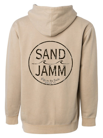 SJ Classic Pigment Dyed Hooded Pullover - Sand