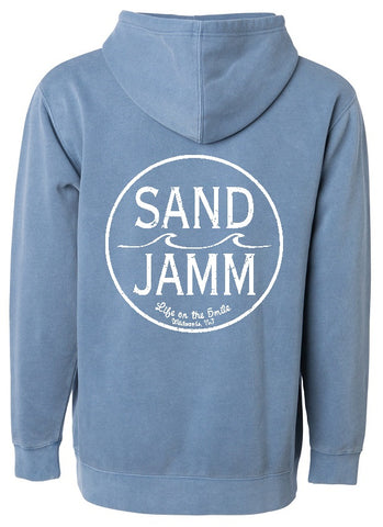 SJ Classic Pigment Dyed Hooded Pullover - Slate Blue