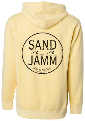 SJ Classic Pigment Dyed Hooded Pullover - Yellow