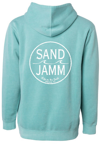 SJ Classic Pigment Dyed Hooded Pullover - Mint