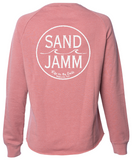 Women's SJ Classic Wave Wash Crew - Dusty Rose