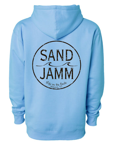 SJ Classic Heavyweight Hooded Pullover - Light Blue