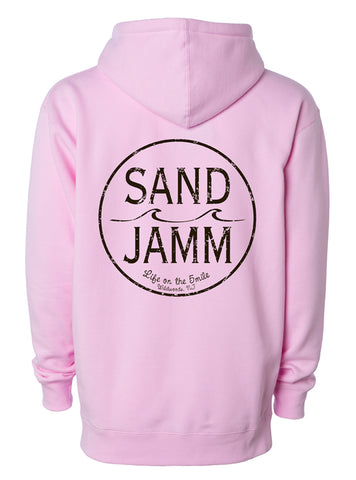 SJ Classic Heavyweight Hooded Pullover - Light Pink