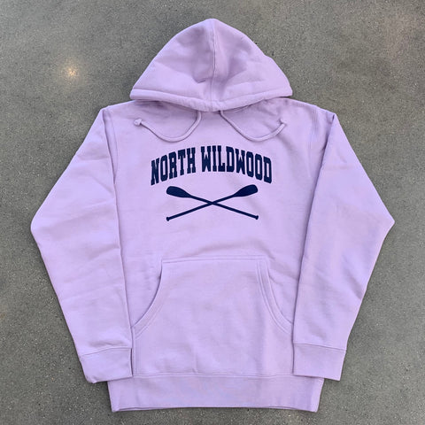 North Wildwood Oars Heavyweight Hooded Pullover - Lavender