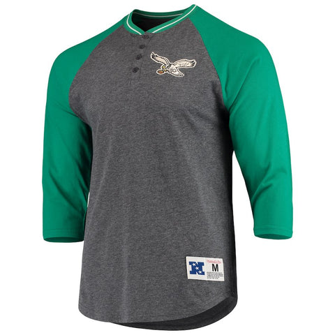 Women's Eagles 4-Button Henley Shirt