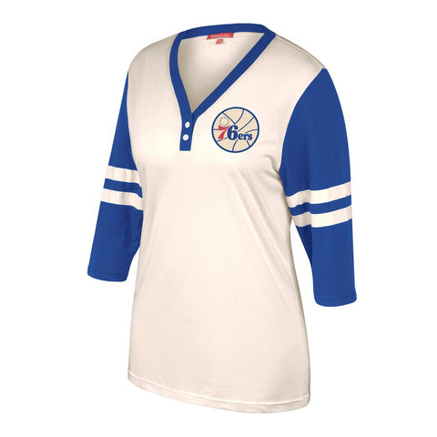 Women's Sixers Shoot Out 3/4 Sleeve Shirt