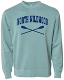 North Wildwood Oars Pigment Dyed Crew - Mint